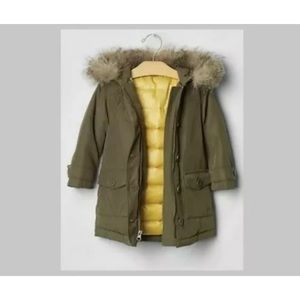 Baby Gap Warmest Ultra Max Anorak Parka Puffer Coat Jacket Olive Green Sz 18-24